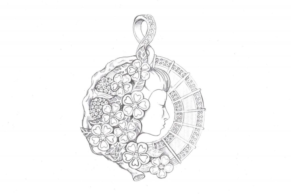 3d jewelry design sketch