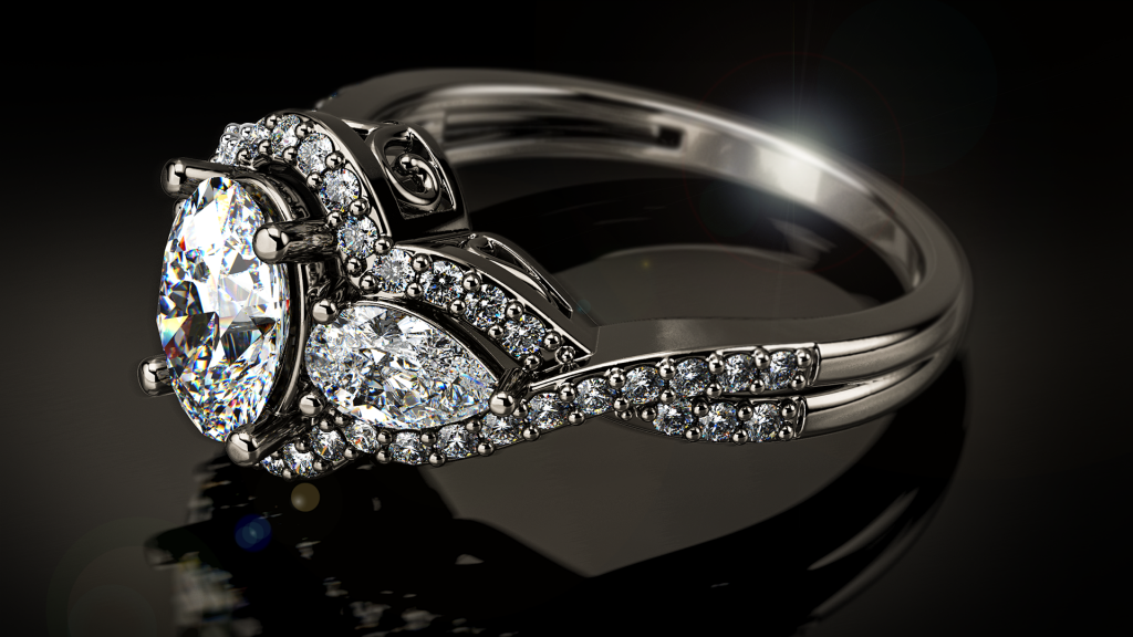 rendering jewelry for ring