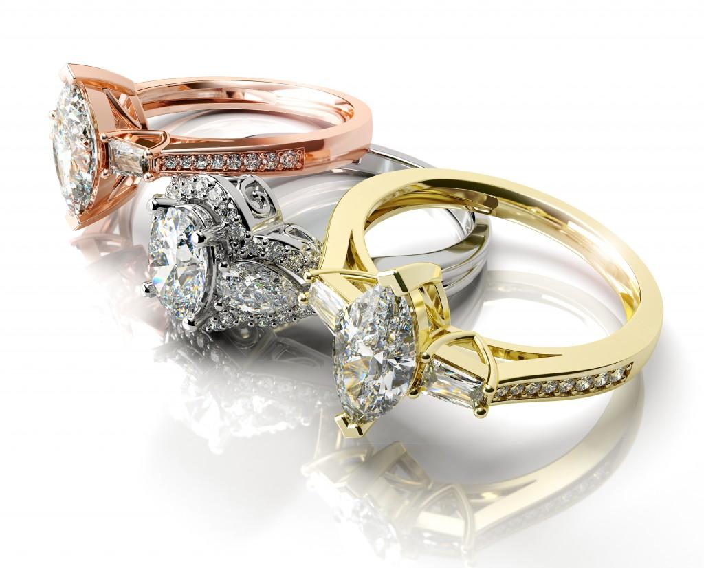 jewelry rendering rings