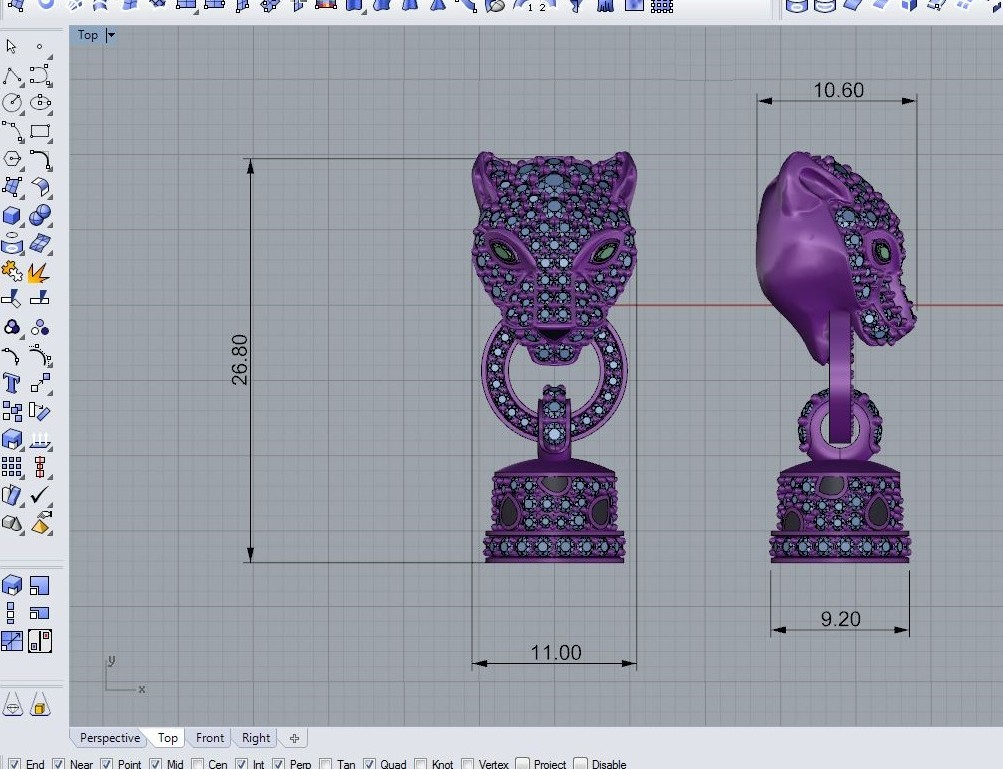 Jewelry Modeling Cad Jewelry 3d Model Rhino Zbrush