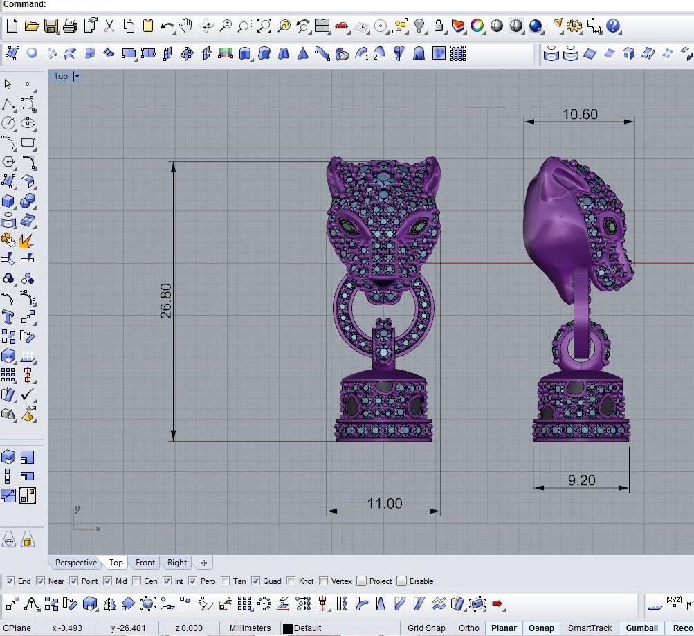 Jewelry Modeling Cad Jewelry 3d Model Rhino Zbrush