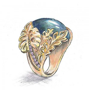 jewelry design sketch