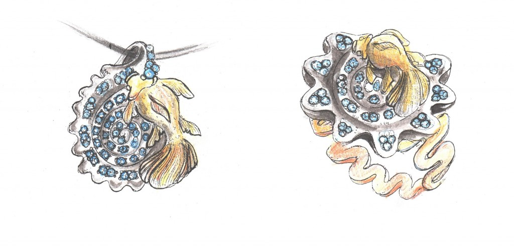 jewelry sketches - jewelry design drawing