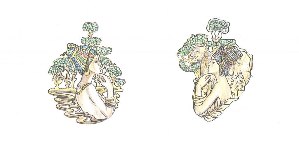 jewelry designing sketch models